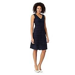 RJR.John Rocha - Designer navy jersey ripple dress