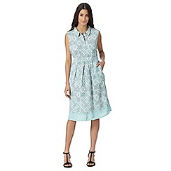 RJR.John Rocha - Designer light turquoise geometric floral dress