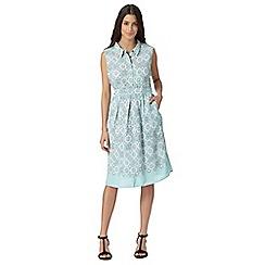 RJR.John Rocha - Designer light turquoise geometric floral dress