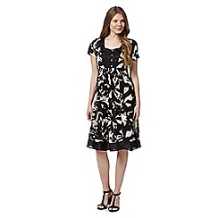 RJR.John Rocha - Designer black abstract floral dress