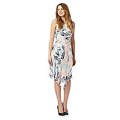 RJR.John Rocha - Designer blue abstract print dress