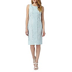 RJR.John Rocha - Designer light turquoise lace jacquard dress