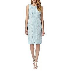 RJR.John Rocha - Designer light turquoise lace jacquard dress