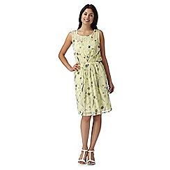 RJR.John Rocha - Designer yellow dandelion print dress