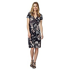 RJR.John Rocha - Designer navy floral and geo print jersey dress