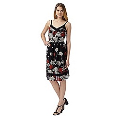 RJR.John Rocha - Designer black wildflower print dress
