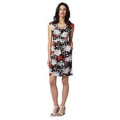 RJR.John Rocha - Designer black pocket floral dress