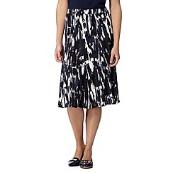 RJR.John Rocha - Designer navy paintbrush skirt
