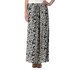RJR.John Rocha - Designer black floral sequin crepe skirt