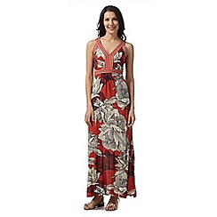 RJR.John Rocha - Designer dark orange hand embellished maxi dress
