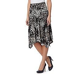 RJR.John Rocha - Designer black paint print jersey skirt