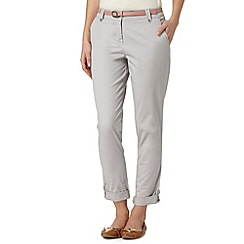RJR.John Rocha - Designer light grey belted chinos