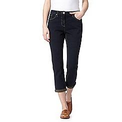 RJR.John Rocha - Designer dark blue slim leg cropped jeans