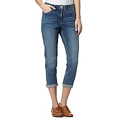 RJR.John Rocha - Designer pale blue 'Alice' slim leg shape enhancing cropped jeans