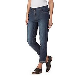 RJR.John Rocha - Designer mid blue lightweight ankle grazer jeans