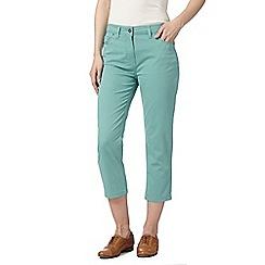 RJR.John Rocha - Designer turquoise denim cropped trousers
