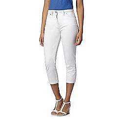 RJR.John Rocha - Designer white cropped slim leg jeans