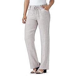 RJR.John Rocha - Designer natural pure linen trousers