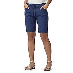 RJR.John Rocha - Designer dark blue linen blend shorts