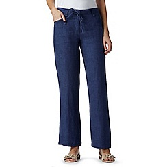 RJR.John Rocha - Designer dark blue linen trousers