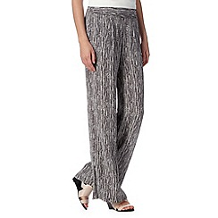 RJR.John Rocha - Designer dark purple tribal print palazzo trousers