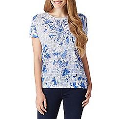 RJR.John Rocha - Designer ivory geometric floral short sleeved jumper