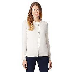 RJR.John Rocha - Designer natural textured knit cardigan
