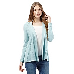 RJR.John Rocha - Pale green pointelle edge to edge cardigan