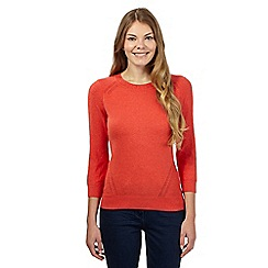 RJR.John Rocha - Dark orange stitched sleeve jumper