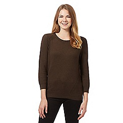 RJR.John Rocha - Brown cotton jumper
