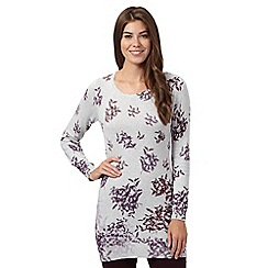 RJR.John Rocha - Pale grey trailing leaves tunic