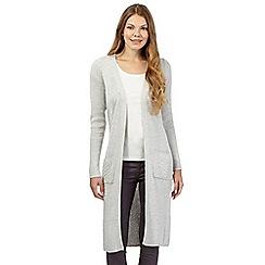 RJR.John Rocha - Grey cashmere blend longline cardigan