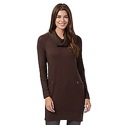 RJR.John Rocha - Dark brown cowl neck knitted tunic