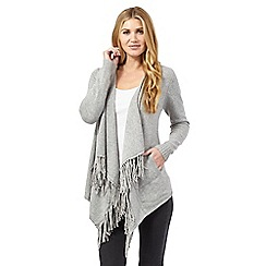 RJR.John Rocha - Light grey fringed cardigan