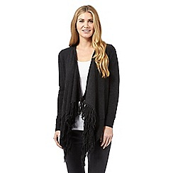 RJR.John Rocha - Dark grey fringed cardigan