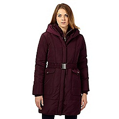 RJR.John Rocha - Purple long quilted parka jacket