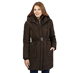 RJR.John Rocha - Dark brown padded hooded parka jacket
