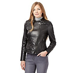 RJR.John Rocha - Black leather biker jacket