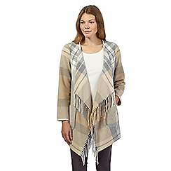 RJR.John Rocha - Natural Italian wool mix check blanket coat