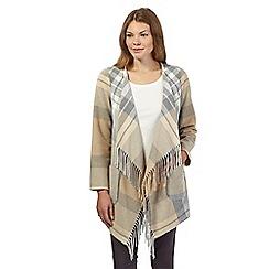 RJR.John Rocha - Natural Italian wool mix check blanket coat