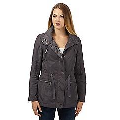 RJR.John Rocha - Designer grey concealed hood jacket