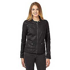 RJR.John Rocha - Black PU stitch jacket