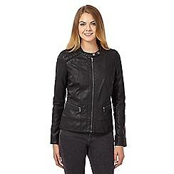 RJR.John Rocha - Black PU stitch jacket