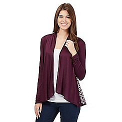 RJR.John Rocha - Dark purple lace panel cardigan