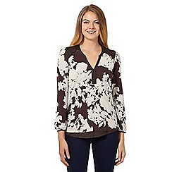 RJR.John Rocha - Dark brown pattern tunic