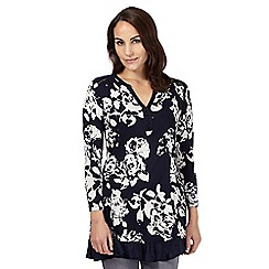RJR.John Rocha - Navy rose print tunic top