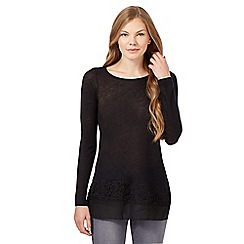 RJR.John Rocha - Black lace insert knitted top