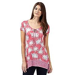 RJR.John Rocha - Designer pink dandelion print tunic top