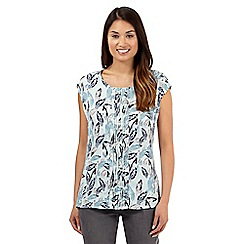 RJR.John Rocha - Designer turquoise feather print top