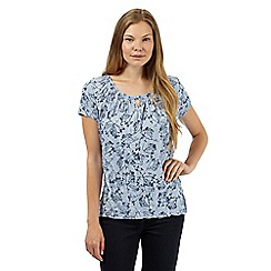 RJR.John Rocha - Designer light blue crinkled sprig t-shirt